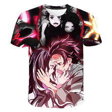 2021 Classic Anime Demon Slayer 3D Print T-shirt Unisex Summer Harajuku Cartoons Streetwear Funny Fashion Cool t-shirt Tops