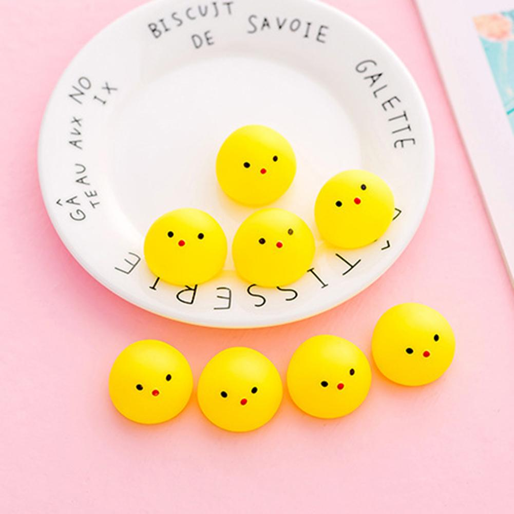 5Pcs Kids Mini Animal Squeeze Toys Girl Soft Yellow Duck Ball Models Cute Dolls Stress Reliever Squeeze Toys For Children Adult