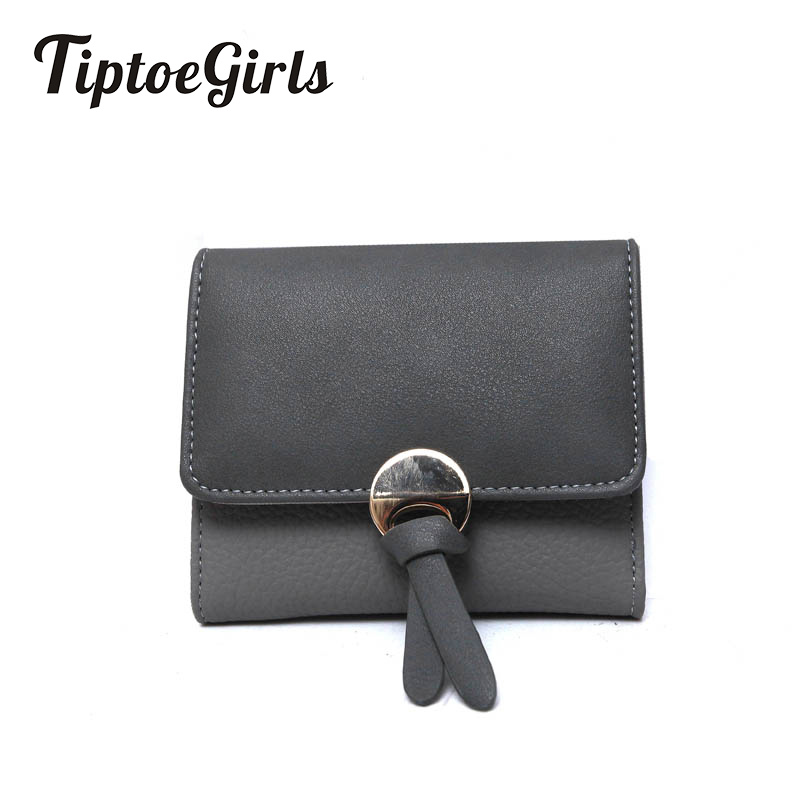 Panelled Color Leather Wallet Hasp Standard Short Wallet Fashion Small Folding Purse Leather Female Models Purse For Cards Coins