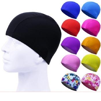 Tkanina poliestrowa czepek o wysokiej rozciągliwości dla dorosłych solidny kolor garnitur dla dzieci i pakowane pojedynczo tekturowe czepek tanie i dobre opinie CN (pochodzenie)