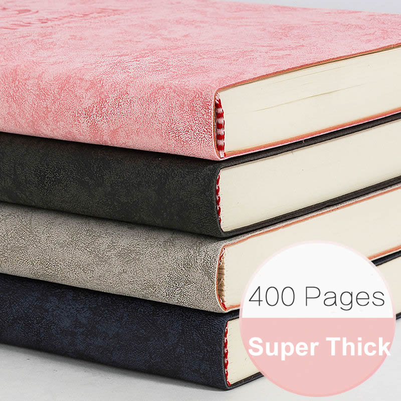 400Pages B5 Super Thick Wax Sense Leather A5 Notebook Large Business Office Daily Work Notepad