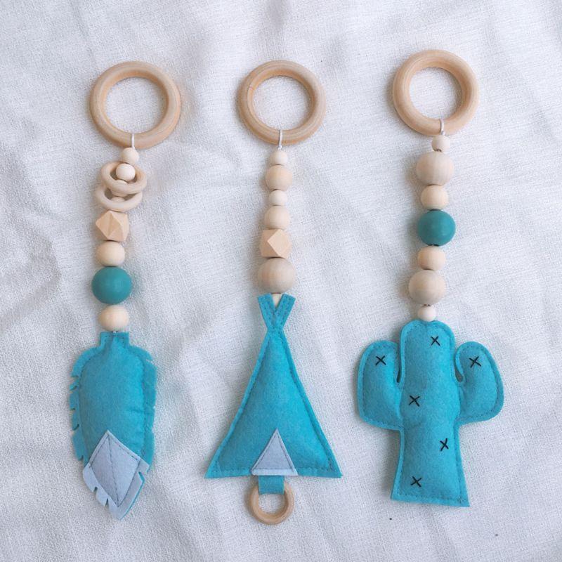 Baby Gym Toy Frame Sensory Nursery Kids Room  Decoration Infant Clothes Wooden Rack