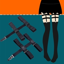 Suspender Belt Stockings Garterbelt-Sock Pastel Goth Leg-Bondage-Clip Strapless Fashion