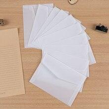 10 Pçs/lote Personalizado Transparente Envelope Envelopes De Papel Translúcido Definir Carta Envelopes Para Cartões Do Convite Do Casamento Do Vintage