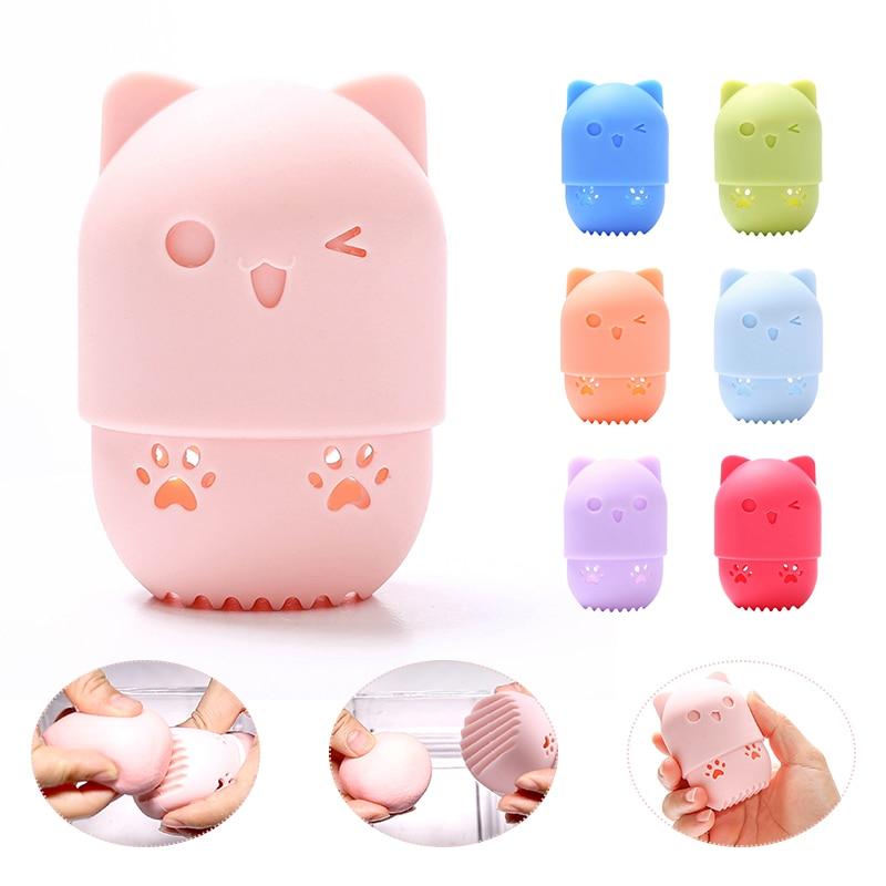 Kitten Beauty MakeupSponge Case Drying Powder Puff Blender Holder Sponge Makeup Egg Case Portable Sponge Box Holder For Travel