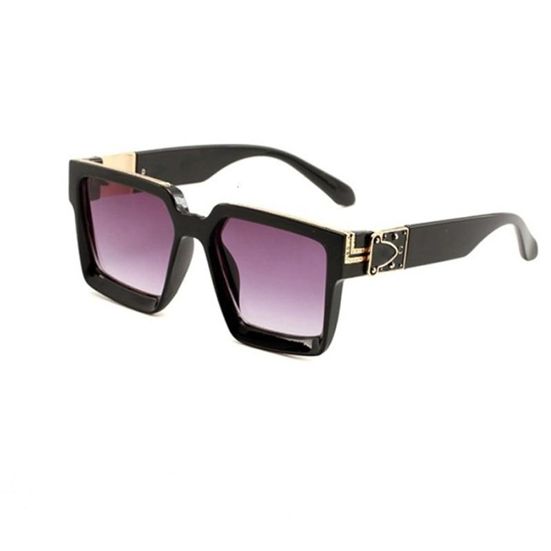 Europe Summer Logo Brand Design Women Ladies Sun Glasses Square Eyewear Gafas De Sol Mujer Sunglasses Oculos With Case Feminino