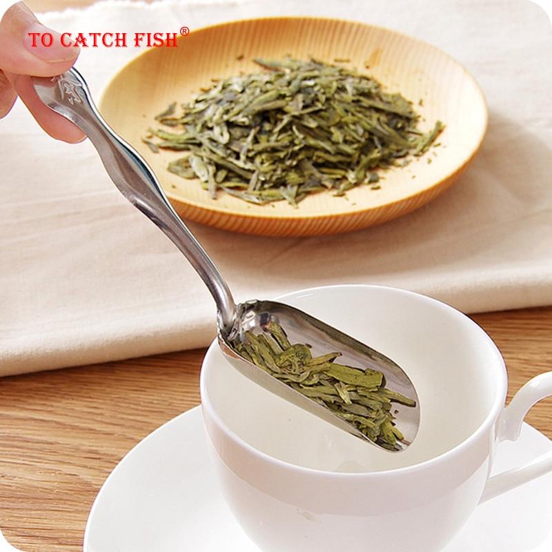 Tea Accessories Stainless Steel Tea Scoop,Coffee Matcha Spoon,Kitchen Utensil Set Cooking Tools Gadget Cutlery