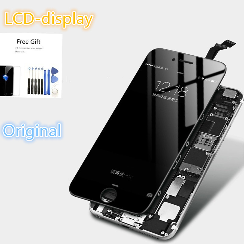Original LCD Display For iPhone 5s SE 6 6s Plus 7 8 Touch Screen Digitizer Assembly Replacement Black White(China)