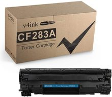 цена на V4INK Compatible CF283A Toner Cartridge (Black 1PK) for HP Laserjet Pro MFP M127fw M127fn M125nw M201dw M201n M225dn M225dw