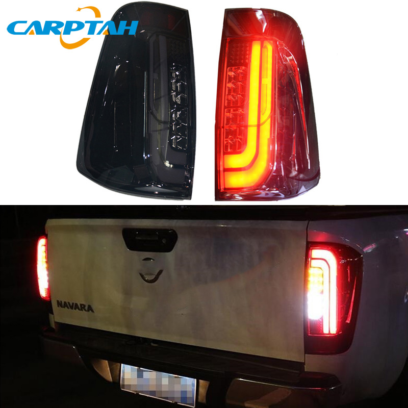 Car Styling Taillight Tail Lights For <font><b>Nissan</b></font> <font><b>Navara</b></font> <font><b>NP300</b></font> 2015 - 2018 Rear Lamp DRL + Turn Signal + Reverse + Brake LED Lights image