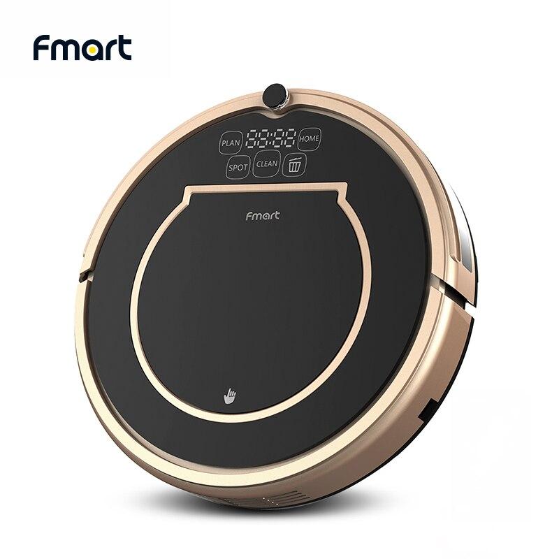 Fmart robô aspirador de pó varredura & molhado mop para pisos duros & tapete pet cabelo anti colisão recarga automática e200