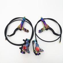 Freno de disco hidráulico para bicicleta de montaña, juego trasero y delantero de aceite, abrazadera Freno de bicicleta de montaña juegos de arcoíris, 800/1400mm
