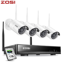 ZOSI 8CH Wireless CCTV System H.265+ 1080P NVR 2CH/4CH 2MP IR CUT Outdoor CCTV Camera IP Security System Video Surveillance Kit