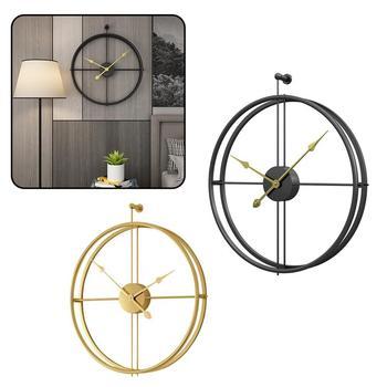 Vintage Design Wall Round Hanging Clock Metal 3D Wall Clock Room Decoration Digital Clocks For Bathroom Bedroom Decor