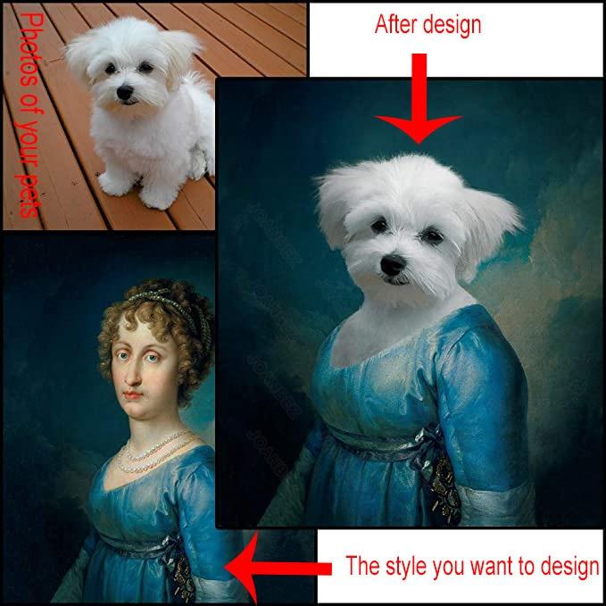 Европейский Стиль холст Материал милые животные в одежде, одежда для сцены могут быть выполнены по индивидуальному заказу фоновые плакат д...