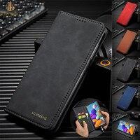 Funda de teléfono de negocios de lujo para Huawei P30 Lite, P30 Pro Nova 4E, soporte magnético, con ranuras para tarjetas, Funda de cuero con tapa y soporte