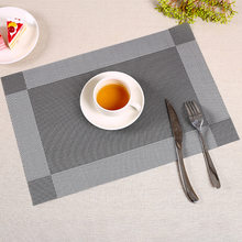 Washable PVC Tableware Table Cloth Table Mat Anti-fouling Meal Plate Bowl Cup Pad Non-skid Restaurant Table Mat Hotel Table Mat(China)