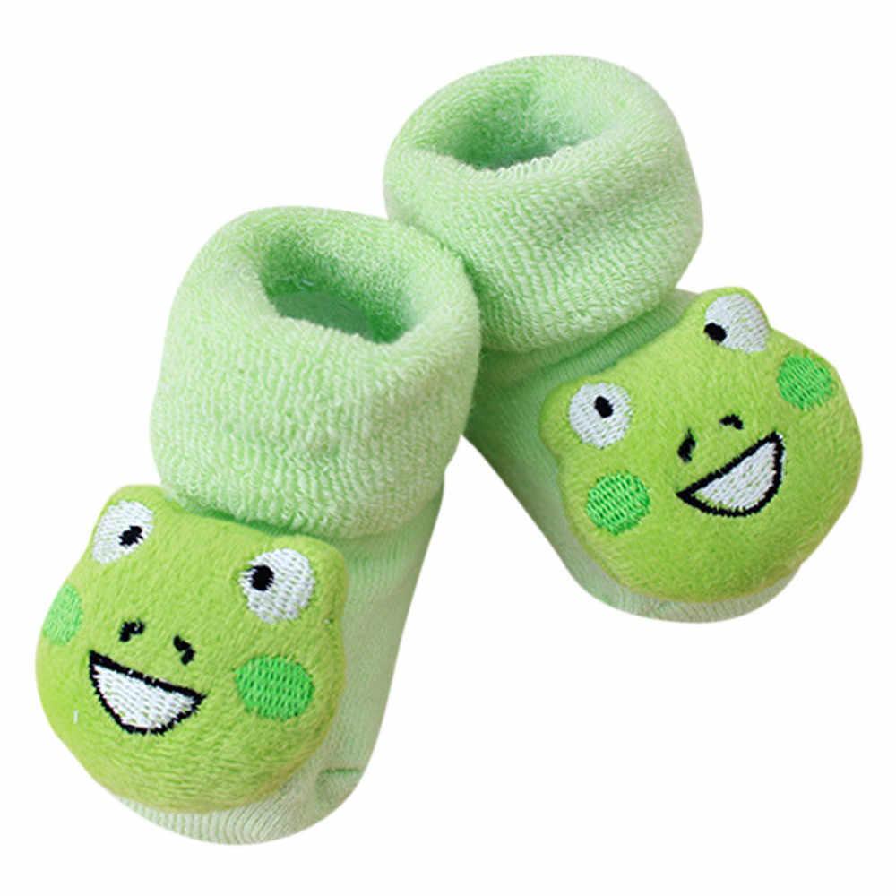 0-12 ay bebek kısa çorap karikatür yenidoğan çocuklar bebek kız erkek kaymaz sıcak tutan çoraplar terlik ayakkabı çizme sevimli karikatür çorap