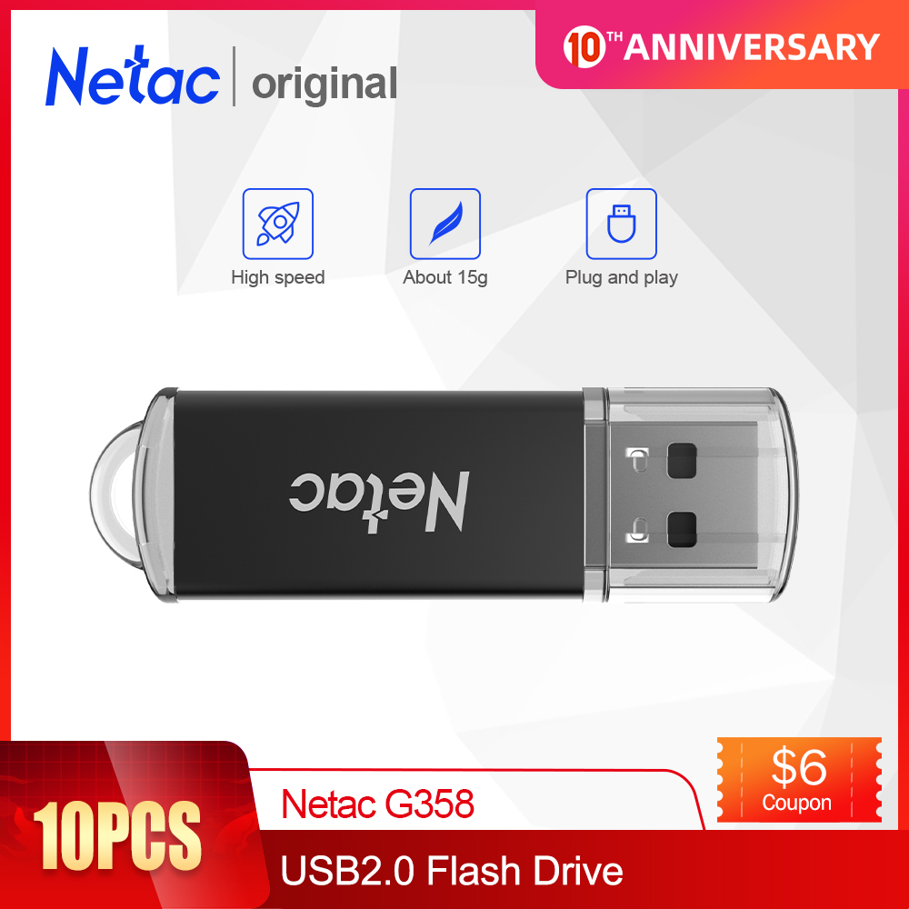 Netac Metal USB Flash Drive 8GB 16GB Pendrive Cle USB Flash Memoria High Speed USB 2.0 Flash Disk Pen Drive Memory Stick G358