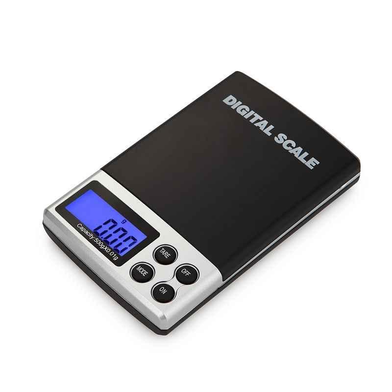 Urijk Mini balance numérique haute précision 100/200/300/500/1000g 0.01/0.1g rétro-éclairage électrique poche gramme pour bijoux légers