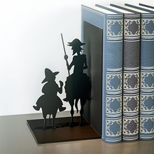 Iron Figure Bookends Reading Book Support Retro Non-Skid Book Ends Stoppers Home Office Table Desktop Decor M21 21 Dropship