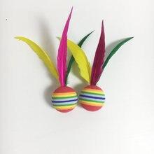 Sports-Accessories Cricket-Balls Sponge Ten-Pcs-Set Big-Head Three-Hair Colorful