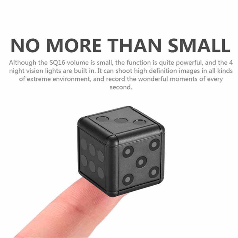 SQ16 мини камера Kamera DVR видео CCTV маленькая видеокамера Espia ночного видения датчик движения камера секретный маленький карманный корпус микро камера