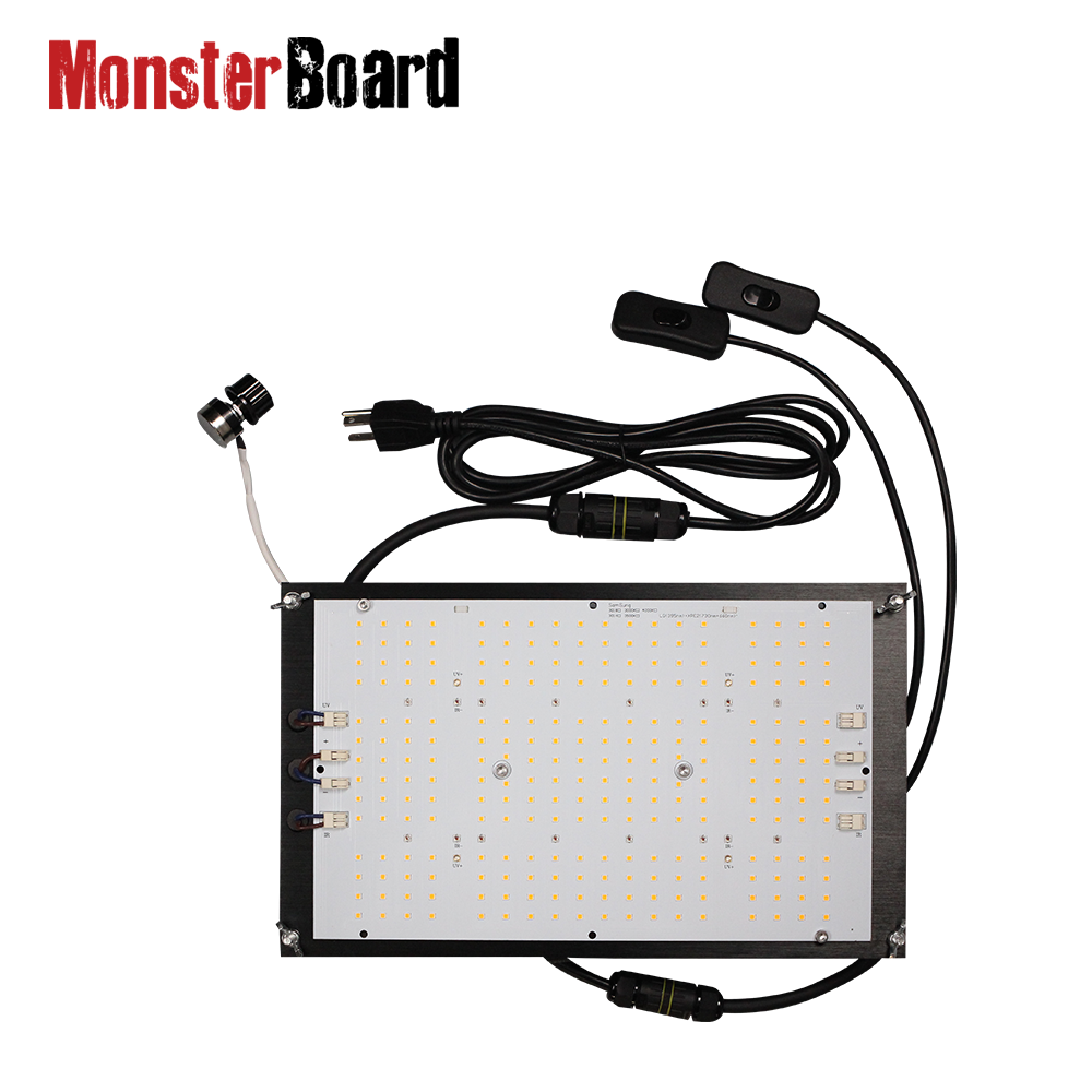 Geeklight 120w 3000k/3500k Monster Board V4 Plus Lm301h Mix UV IR Switch Led Grow Light With Waterproof Back Wire