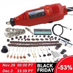 BDCAT 220V Herramientas Eléctricas Mini taladro eléctrico con portabrocas Univrersal de 0,3-3,2mm y juego de herramientas rotativas Shiled para dremel 3000 4000