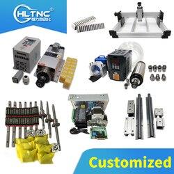 Personalizado todos los modelos y longitudes de carriles lineales 400/700/1000mm, tornillos de bola, conjuntos para motor, conjuntos de husillo, cadena calble para CNC