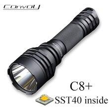 Convoy LED Flashlight C8+ Linterna SST40 High Powerful Flash Light Black Torch 2000lm Camping Fishing Lamp Tactical Work Light