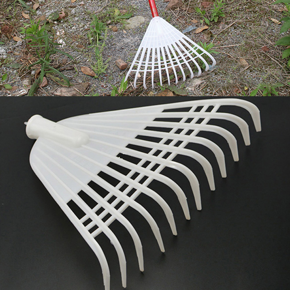 Heavy Duty Replacement Lawn Working Plastic Leaf Yard Grass Small Garden Tool Shrub Claw Hand Rake Cleaning