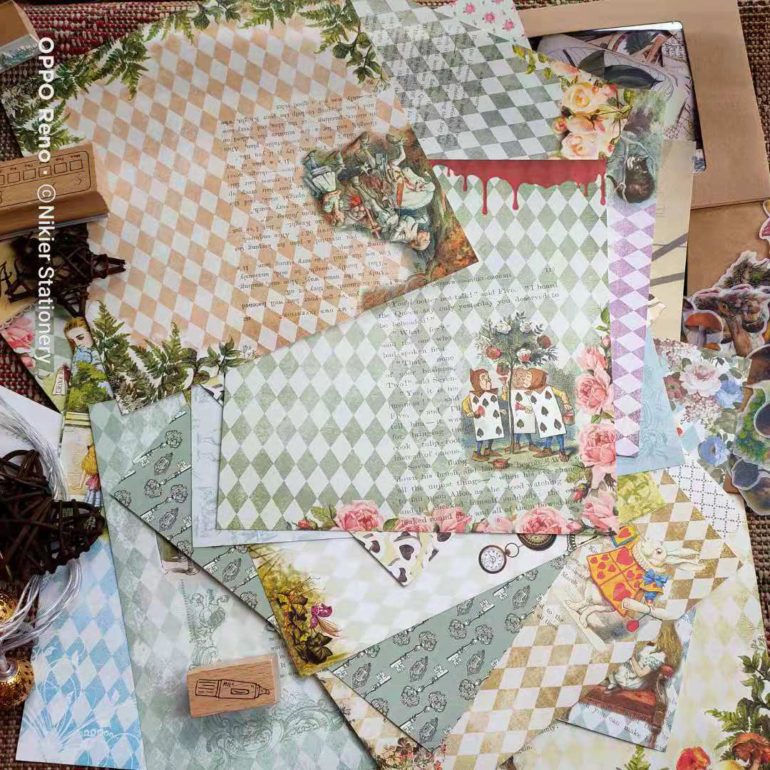 papelaria material conjunto de papel para scrapbooking