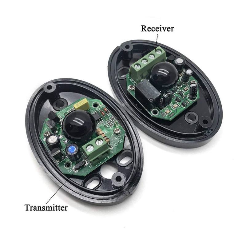 Single Beam Infrared Radiation Detector Automatic Door Light Sensor Burglar Alarm Single Light Infrared Alarm Detector 2 2