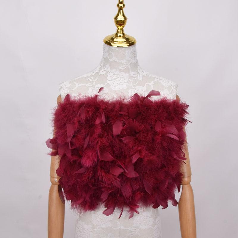 New 100% Natural Turkey Fur Bra Underwear Women's Fur Coat Real  Turkey Fur Coat Fur Mini Skirt