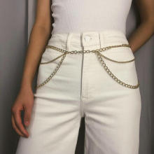 Metal Body Waist Chain For Women Dress Belt Bohemian Multilayer Waist Chain Fashion Apparel Accessories 2019 Gift Wholesale