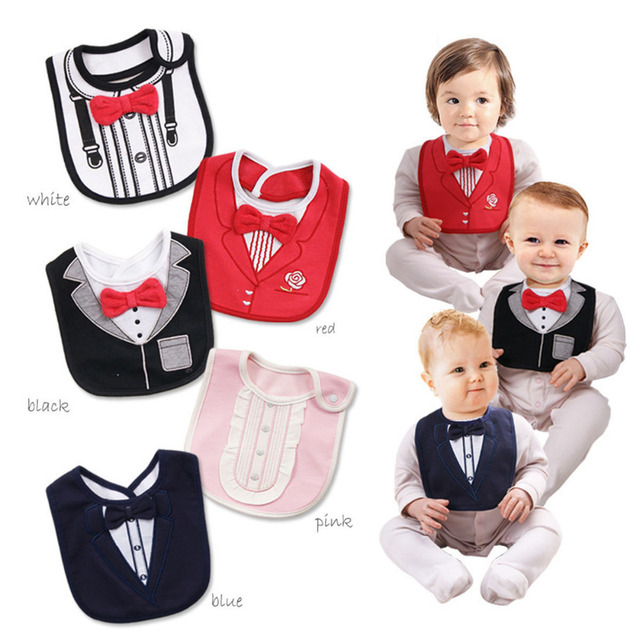 Smoking imperméable pour Babys | Smoking enfant, bavoir dalimentation, Saliva, serviette humide, serviette bébé enfant, nœud papillon rouge, bavoir amovible, Saliva serviette