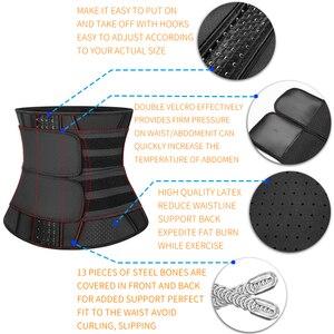 Image 5 - Waist Trainer Women Slimming Sheath Workout Trimmer Belt Latex Tummy Shapewear Sauna Body Shaper Corset Sweat Reducing Girdles