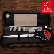 Fenice 7.5/8.0 inch Pet Grooming Scissors Left Handed Dog Hair Cutting Straight Groomer Shear
