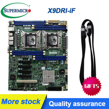 For Supermicro X9DRl-iF c602 2011-pin dual X79 servers workstation motherboard supports E5 V2 Original Used motherboard