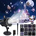 Рождественский лазерный проектор анимационный эффект IP65 внутренний/наружный проектор на Хэллоуин 12 узоров Снежинка/Снеговик лазерный све...