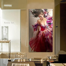 Beauty girl paintings on the wall 100% handmade oil painting canvas art large pictures sexy figure for living room