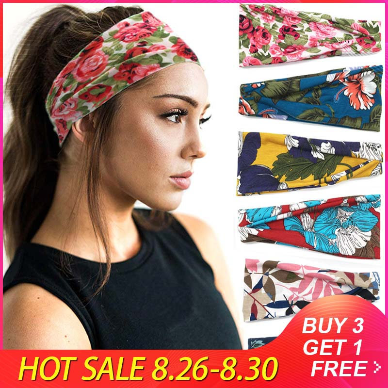 Headband Hair-Accessories Sweat-Absorption Fitness Elastic Sports Fashion Cotton Yoga
