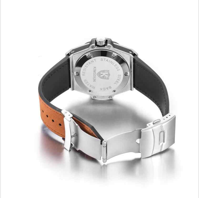 2019 High quality Set auger Luxury Brand dimensional design luminous Men Leather luxury multifunction quartz watch
