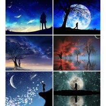 Diy картина по номерам Луна маслом Раскраска пейзаж 40 х 50