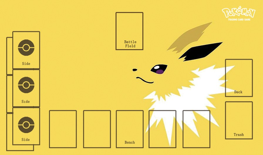 Takara Tomy PTCG Accessories Pokemon Card Board Game Playmat Jolteon Eevee Toys For Children