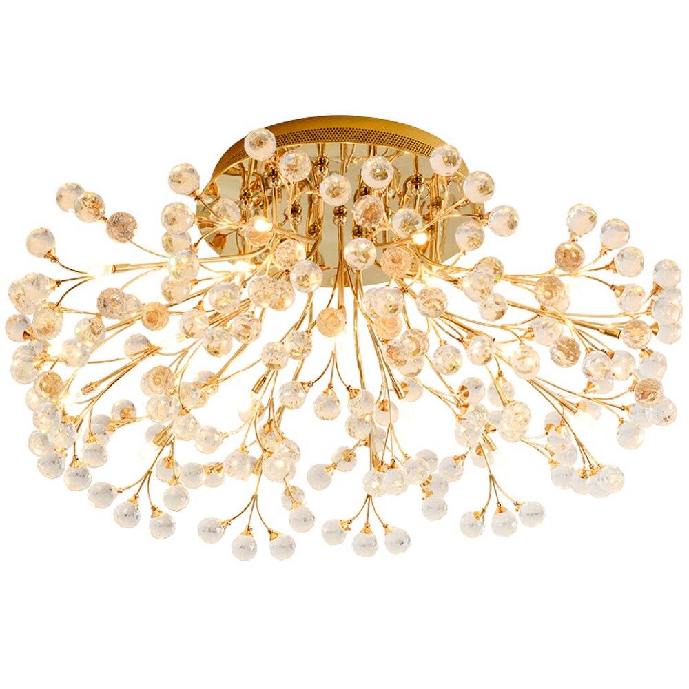 new creative desgin crystal ceiling lights modern crystal lamp lustre bedroom light