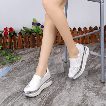 Sport Shoes Woman Platform Tennis Shoes Womens Trainers Black Slip on Sneakers for Women Thick Bottom Sneakers Zapato Mujer Rojo