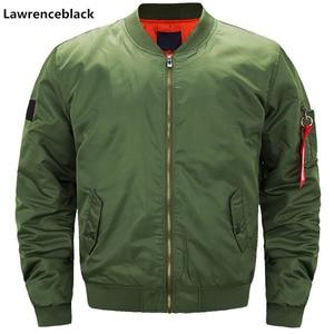 Image 2 - Pilot hava erkekler bombacı ceket Mens askeri bombacı ceketler erkekler rahat düz fermuar Pilot ceket yeşil yeni Slim Fit erkek mont 6542