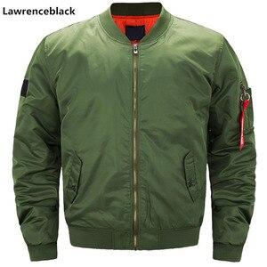 Image 2 - Veste de pilote Air bomber pour hommes, veste militaire des aviateurs, couleur vert, avec fermeture éclair, couleur décontracté, manteaux pour hommes, nouvelle coupe étroite, 6542